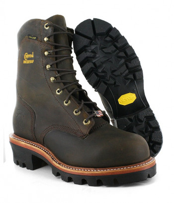 Chippewa Men S 9 Bay Apache Waterproof Steel Toe Super Logger Rugged Boots
