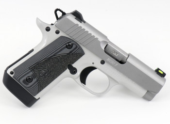 "KIMBER MICRO 9, 9MM, 3.15"" BBL., STAINLESS, LASER, 7 ROUNDS, FIBER OPTIC SIGHT"