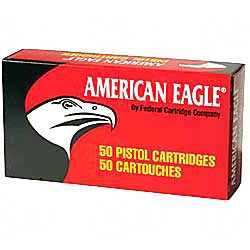 FEDERAL AMERICAN EAGLE AMMUNITION .25 AUTO, 50GR  TOTAL METAL JACKET 50COUNT