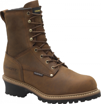 "CAROLINA MEN'S 8"" STEEL TOE WATERPROOF INSULATED LOGGER WORK BOOT"