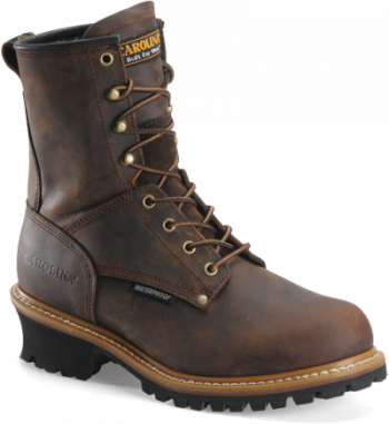 "CAROLINA MEN'S 8"" WATERPROOF LOGGER WORK BOOT"