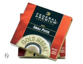 FEDERAL GM 100 MATCH PRIMERS SMALL PISTOL