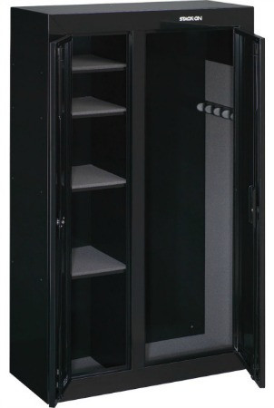 STACK-ON GUN CABINET 10 GUN, DBL. DOOR, BLACK