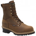 "CAROLINA MEN'S 8"" SOFT TOE WATERPROOF INSULATED LOGGER WORK BOOT"