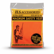 HUNTERS SPECIALTIES SAFETY VEST BLAZE ORANGE, MAGNUM SIZE FITS UP TO 4X