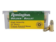 REMINGTON RIMFIRE AMMO., .22 SHORT, 29 GR. RN, HIGH VELOCITY, 100 ROUNDS