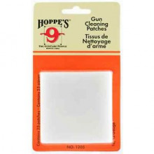 HOPPES GUN CLEANING PATCHES FOR 16 GA. & 12 GA., PACK OF 25