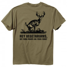 BUCKWEAR MEN'S TEE, FOOD POOPS, GREEN