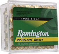 REMINGTON RIMFIRE AMMO., .22 LR, 40 GR. HIGH VELOCITY RN, 100 ROUNDS
