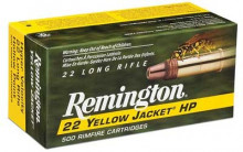 REMINGTON RIMFIRE AMMO., .22 LR, YELLOW JACKET, 33 GR., TCHP, 100 ROUNDS