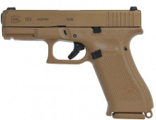 "GLOCK MODEL 19X, NIGHT SIGHTS, 9 MM, 4.02"" BBL, COYOTE TAN"
