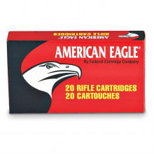 FEDERAL AMERICAN EAGLE AMMUNITION,  308 WIN., 50 GR. FULL METAL JACKET BOAT TAIL, 20-COUNT