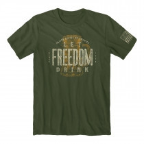 BUCKWEAR MEN'S LET FREEDOM DRINK TEE, GREEN