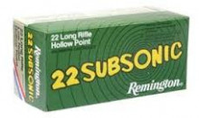 REMINGTON RIMFIRE AMMO., 22 LR, 38 GR., SUB-SONIC, LOW NOISE, HP, 50 ROUNDS