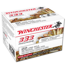 WINCHESTER AMMO, 22 LR, 36 GR., C.P. H.P, 333 ROUNDS