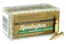 REMINGTON RIMFIRE AMMO., 22 MAG., 33 GR., ACCUTIP VMAX BOAT TAIL, 50 ROUNDS
