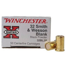 WINCHESTER AMMO, .32 S&W BLANKS BLACK POWDER, 50 ROUNDS