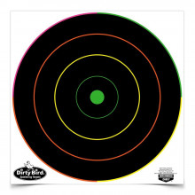 "BIRCHWOOD CASEY DIRTY BIRD 12"" MULTI COLOR TARGET 10 PACK"