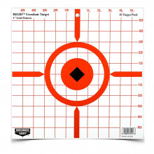 "BIRCHWOOD CASEY RIGID 12"" CROSSHAIR SIGHT-IN TARGET, 10 PACK"