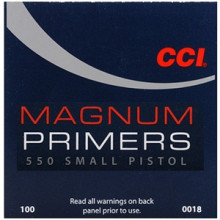 CCI PRIMERS #550 MAGNUM SMALL PISTOL