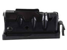 SAVAGE AXIS MAGAZINE, SHORT ACTION 243 WIN., 7MM-08, 6.5 CM, 308 WIN, 4 RND BLACK/STAINLESS