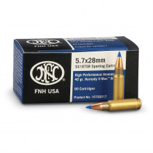 FNH AMMUNITION, 5.7X28MM, 40 GR., VMAX BULLET, 20ROUNDS