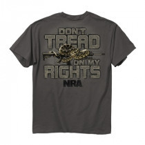 BUCKWEAR MEN'S NRA DON'T TREAD TEE CHARCOAL