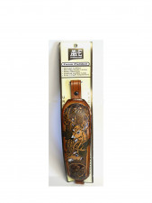 AA&E PADDED LEATHER SLING W/DEER INLAY