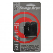 SAVAGE MAGAZINE, 93 SERIES RIFLE, 22 WMR/ 17 HMR, BLUED, 5 ROUNDS