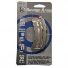 SAVAGE MAGAZINE,  MK II SERIES, 22 LR./ 17 MACH 2, STAINLESS, 10 ROUNDS