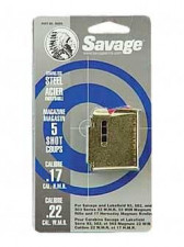 SAVAGE MAGAZINE FOR 90 SERIES, 22 WMR/ 17HMR, STAINLESS, 5 SHOT
