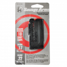 SAVAGE MAGAZINE, 93 SERIES RIFLE, .22 WMR/ 17 HMR., BLUED, 10 ROUNDS