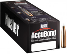 NOSLER BULLETS ACCUBOND, 6.5MM/.264, 130GR SPITZER, 50COUNT BOX