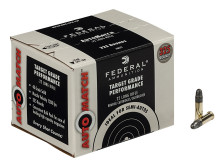 FEDERAL AMMO 22 LR., 40 GR. LEAD ROUND NOSE, AUTO MATCH, STANDARD VELOCITY (1200 FPS), 325 RNDS