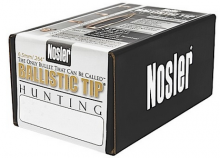 NOSLER BULLETS BALLISTIC TIP, 6.5 MM/.264, 100 GR. SPITZER, 50COUNT BOX