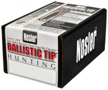 NOSLER BULLETS BALLISTIC TIP, 7MM/.284, 140 GR. SPITZER, 50COUNT BOX
