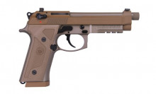 "BERETTA M9A3, 9 MM., 5.1"" BBL, FDE WITH NIGHT SIGHTS, 3-17 ROUND MAGAZINES WITH HARD PISTOL CASE"
