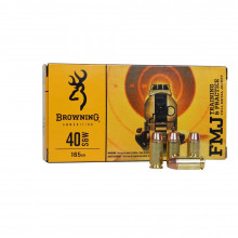 BROWNING AMMUNITION, BPT, .40 S&W, 165 GR. FMJ, 50 ROUNDS