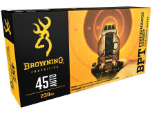 BROWNING AMMUNITION, BPT, .45 ACP, 230 GR. FMJ, 50 ROUNDS