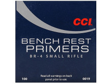 CCI PRIMERS, BENCH REST 4, SMALL RIFLE