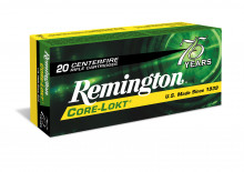 REMINGTON RIFLE AMMO, 270 WIN. 150 GR., CORELOCK, POINTED SOFT POINT, 20 ROUNDS