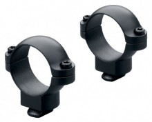 LEUPOLD DUAL DOVETAIL RINGS MEDIUM, MATTE BLACK