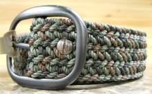 AA&E MEN'S WEB BELT, GREEN CAMO.