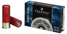 "FEDERAL POWERSHOK SABOT SLUG, HYDRASHOCK, 12 GA, 23/4"", 1 OZ., 5COUNT"