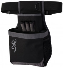 BROWNING MEN'S FLASH SHELL POUCH, BLACK/ GREY