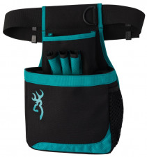 BROWNING WOMEN'S FLASH SHELL POUCH, BLACK/ TEAL