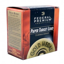 FEDERAL GOLD MEDAL TARGET LOADS, PAPER HULL, 12 GA., 2-3/4 DR., 1-1/8 OZ., #8