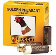 FIOCCHI GOLDEN PHEASANT SHOTSHELLS, 12 GA., 33/4 DR., 13/8 OZ., #6 NICKEL, 25 ROUNDS