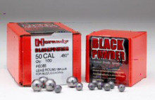 HORNADYLEAD BALLS 100 ct 50CAL  .490 LEAD BALL