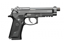 "BERETTA M9A3, 9 MM., 5.1"" BBL, BLACK WITH NIGHT SIGHTS, 3-17 ROUND MAGAZINES WITH HARD PISTOL CASE"